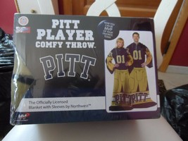 University of  Pittsburgh Player uniform comfy throw with sleeves by Northwest - $24.99