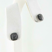 David Yurman Albion Stud Earrings 10mm Pave Black Diamond 0.46cts Sterling $950 - $703.25