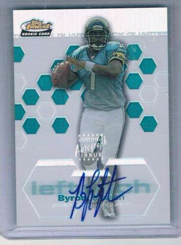 2003 Topps Finest Refactor #120 Byron Leftwich RC Rookie Auto /199