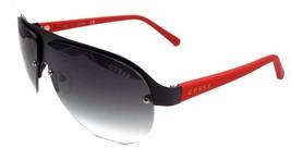 92268a0847b1c GUESS GF0148 02B Aviator Sunglasses 64-9-135 Matte Black   Smoke Gradien.