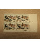USPS Scott 1243 5c 1963 CM Russell American Artist Plate Block 4 Stamps ... - $4.43
