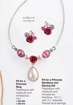 Avon Fit For A Princess Necklace and Earring Set - $11.99