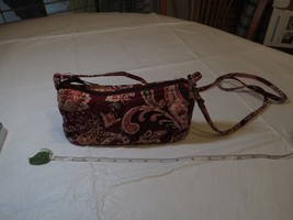 Vera Bradley Retired Floral Piccadilly Plum Quilted Purse Shoulder Bag C... - $79.19