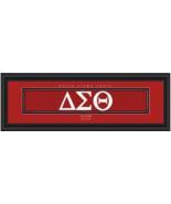 Personalized Delta Sigma Theta Sorority Stitched Jersey Framed Print - $39.95
