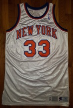 1992-93 New York Knicks Patrick Ewing Game Issued Jersey 48+6 worn used ... - $999.99