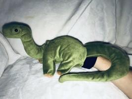 Beleduc Green Plush Brontosaurus Dinosaur Glove Hand Puppet RARE Bronty ... - $19.99