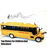 Big Daddy Huge Yellow School Bus with Lights and Cool Openable Doors Pul... - $28.90
