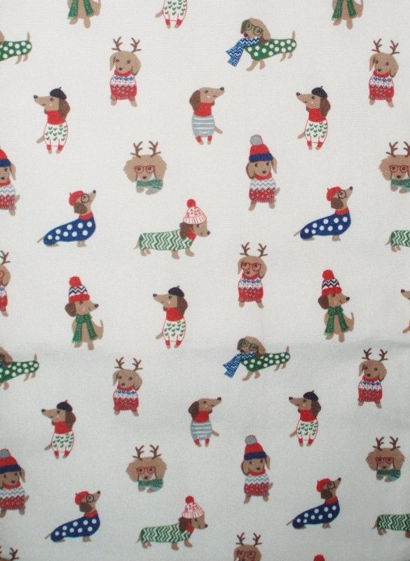 Primary image for Christmas Holiday Winter Dachshund Table Runner by Cynthia Rowley