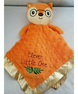 Baby Starters Clever Little One Fox Security Blanket Lovey Orange Yellow... - $39.58