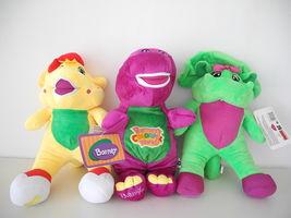 "12"" Tall Barney Singing Fisher-Price Plush Doll, BJ & Baby Bop 3pcs set toy - $36.53"