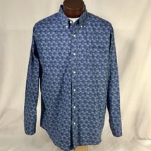 Palm Tree All Over Print Aloha Hawaiian Button Down Shirt Long Sleeve Mens XL - $47.50