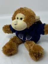Unipak Fluffies Plush Monkey Chimp Stuffed Animal in Lacrosse Tennis Swe... - $8.41