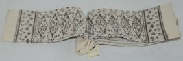 Simply Noelle Cream And Chocolate Crew Sock One Size Fits Most image 5