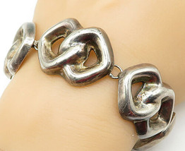 MEXICO 925 Silver - Vintage Large Hollow Anchor Link Chain Bracelet - B5294 - $145.11