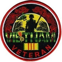VIETNAM VETERAN SOLDIER  RIBBON MEDAL  JACKET  PATCH - $13.53