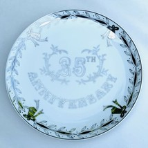 Lefton China 25th Anniversary Collectors Plate Silver Anniversary Made in Japan - $9.47