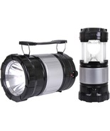 Solar Lantern Torch LED Light with Rechargeable Battery & USB Charger Em... - $11.99