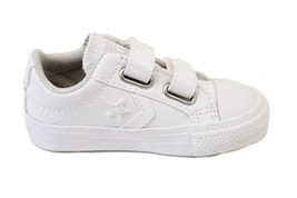 Converse Infant Star Player EV 2V 751878C Sneakers White US 4 RRP $50 BCF73 - $33.68