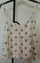 Mossimo Womens Cream & Blue Floral Print Adjustable Strap Camisole Tank ... - $14.84