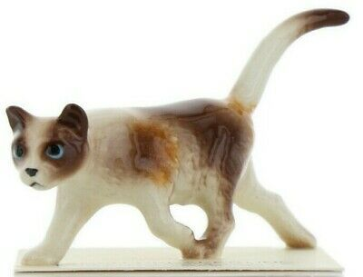 Hagen Renaker Miniature Cat Calico Prowling Ceramic Figurine