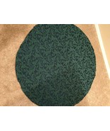 Green round table cloth detailed - $37.61