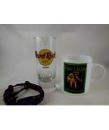 """Hard Rock Cafe KONA Shot Glass 4"""" + Hula Kona Daddy coffee espresso + br... - $14.54"""