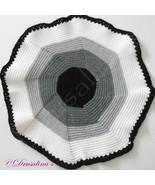 Cat Bed Crochet Crate Mat Sleep Dog Pet Blanket Washable Acrylic Black G... - $16.99