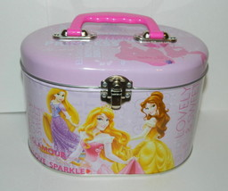 Walt Disney's Princess Illustrated Tin Sewing Box Tote Style A, NEW UNUSED - $16.40