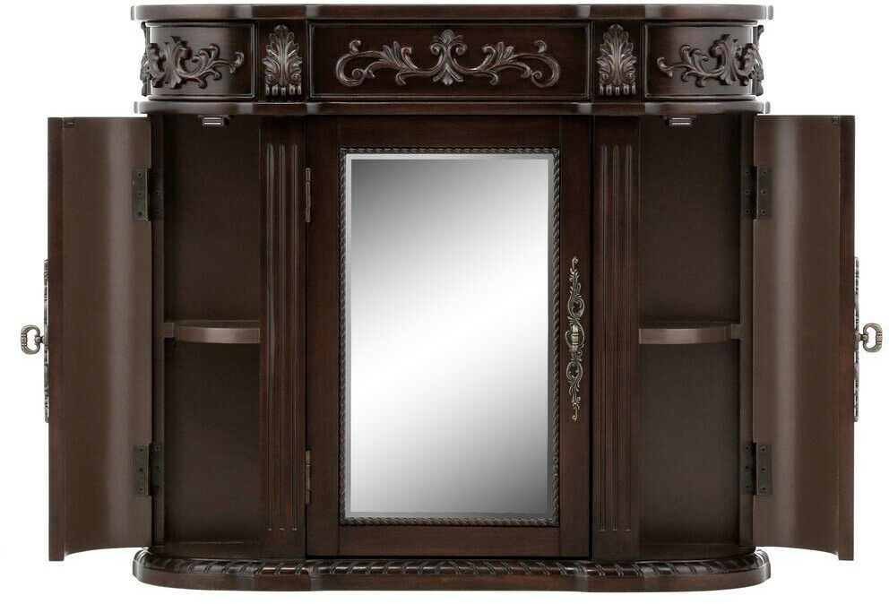 Bathroom Storage Wall Cabinet 31-1/2 In. W 3-Door Mirrored