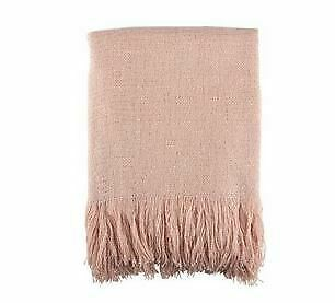 "SARO LIFESTYLE Sevan Collection Throw Blanket,50"" x 60"" Pink -store new with tag"