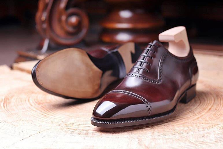 Primary image for Handmade Men's Brown Leather Oxfords Shoes, Dark Brown Formal Shoes For Men