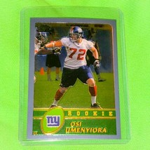 Nfl Osi Umenyiora New York Giants 2003 Topps Chrome Football Rookie #204 Mnt - $1.25