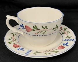 Nikko Provincial Designs Avondale Tea Cup and Saucer Floral Japan - $9.89