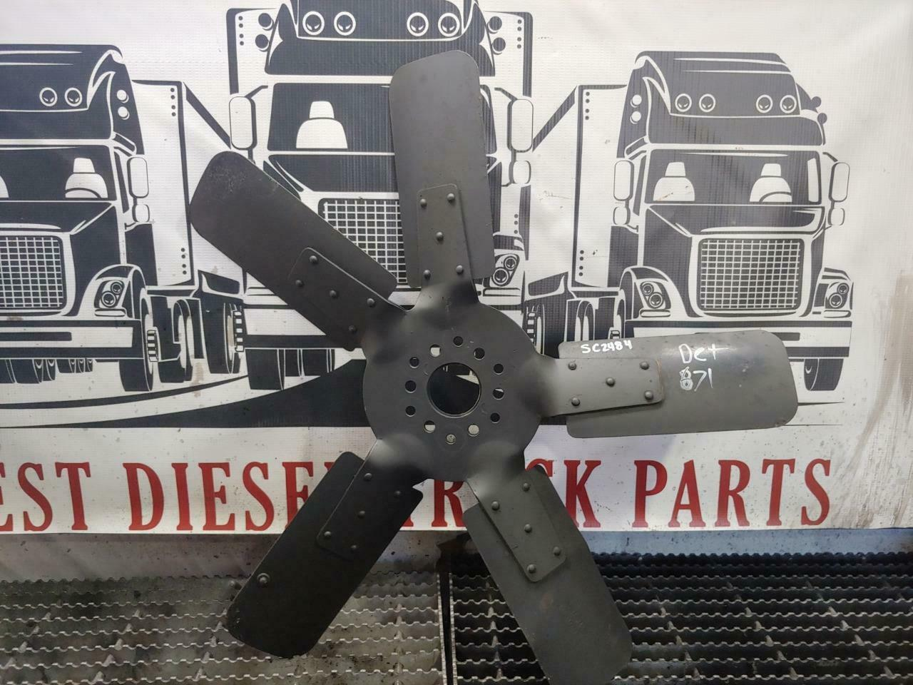 "USED Detroit 6-71 Diesel Engine Fan from Ford Truck, 5 Blades, 26"" Part# D2HA-AA - $129.99"