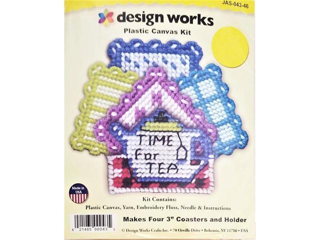 Design Works Plastic Canvas Kit Time for Tea #JAS-043-46