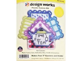 Design Works Plastic Canvas Kit Time for Tea #JAS-043-46 - $7.99