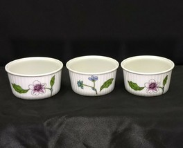 Set of 3 Royal Worcester Astley Floral Pattern Ramekins - $9.95