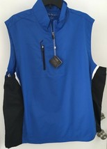 Bobby Jones Men's M Blue & Black Sleeveless X-H20 Performance Vest NWT - $21.23