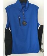 Bobby Jones Men's M Blue & Black Sleeveless X-H20 Performance Vest NWT - $21.23