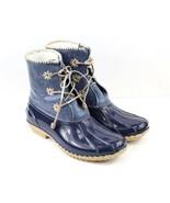 Womens Jack Rogers Chloe Metallic Rain Boot - Midnight Size 10 - £68.97 GBP