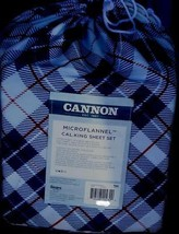 Cannon Microflannel Cal. King Sheet Set - BRAND NEW PACKAGE - NICE PLAID... - $49.49