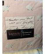 Kensie Home White/Gray Sheep on Pale Pink Microfiber Sheet Set Full - $49.00
