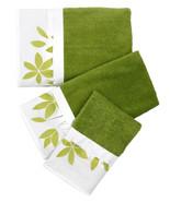 Mayan Leaf Sage - 3-Piece Popular Bath Bathroom, Pool, Hand, Wash Towel Set - $29.99