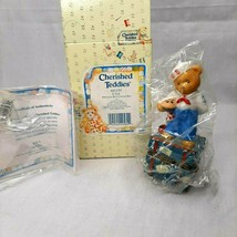 Cherished Teddies American Boy Covered Box Trinket 1997 Enesco Figurine ... - $12.86