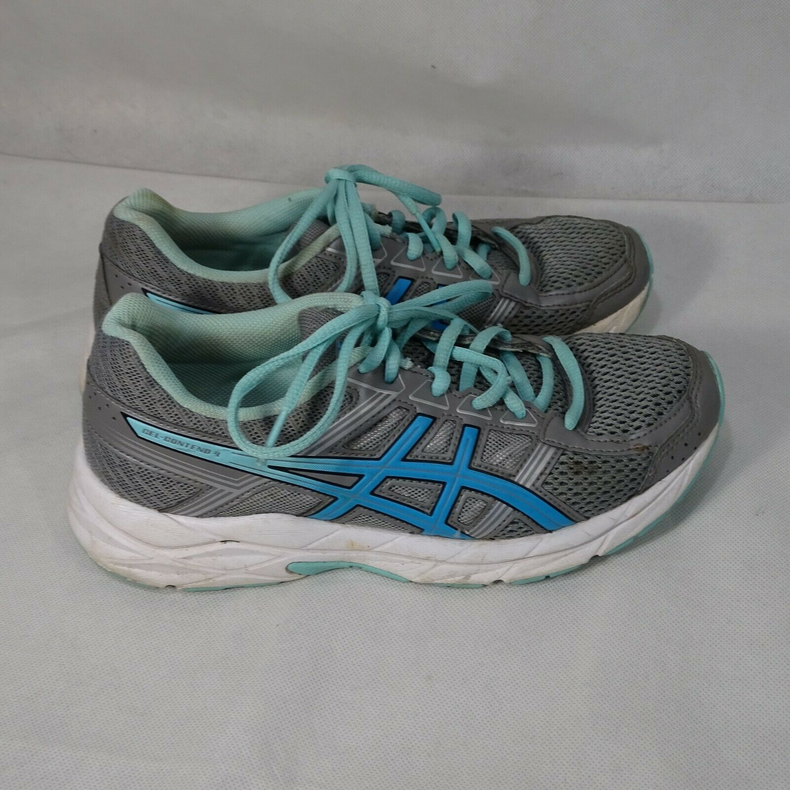 Asics Gel-Contend 4 Ortholite Sneakers Shoes Mesh Women Size 7 Gray Blue T767Q image 2