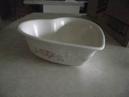 Pfaltzgraff Tea Rose heart shaped 8 inch bowl 1 available - $6.29