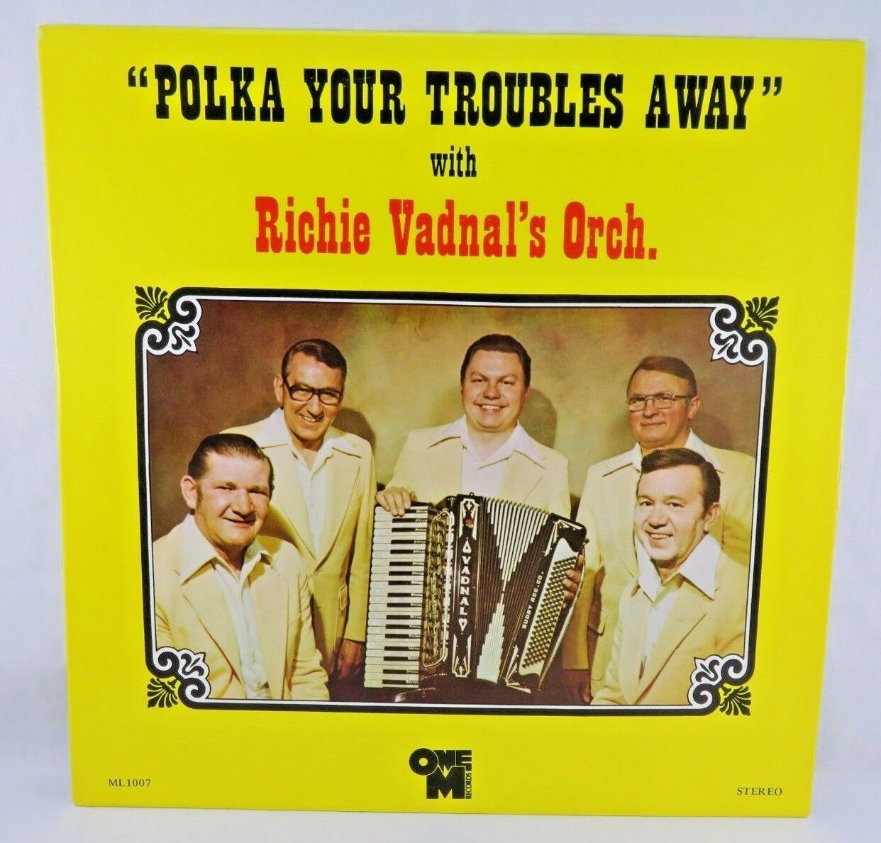 "Primary image for Polka your troubles away 12"" stereo vinyl Richie Vadnal & Orch. One M records"
