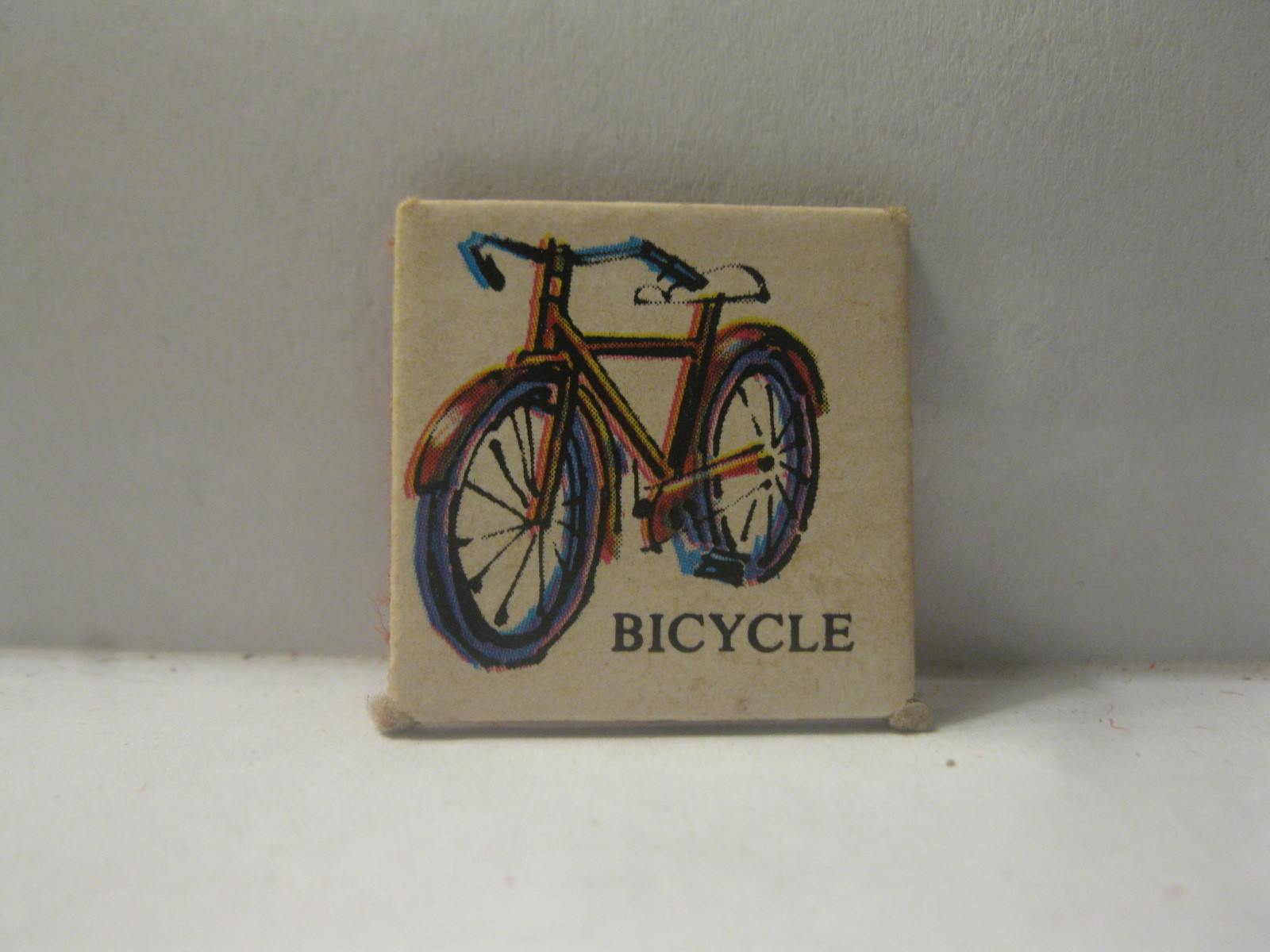 1968 Charades for Juniors Board Game Piece: Picture Square - Bicycle - $1.00