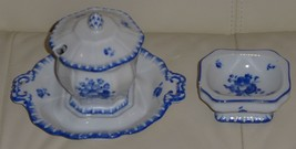 ANTIQUE BOHEMIA POTTERY JELLY JAR AND DISH - $59.00