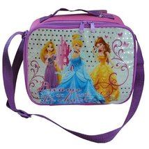 """Disney Princess """"Dreams are made to share"""" Pink & Purple Rectangle Lunch Bag Box"""